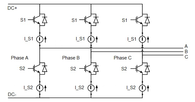 Three-phase two-level inverter/rectifier on